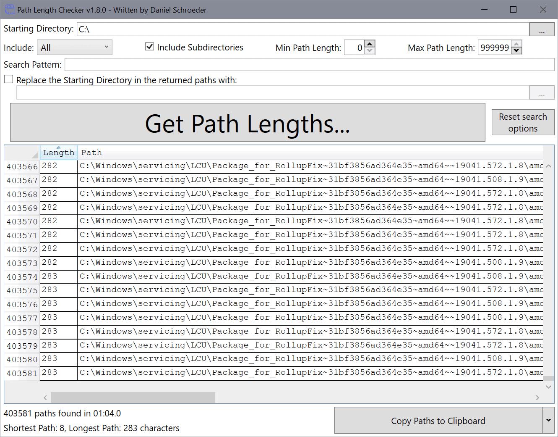 path length checker