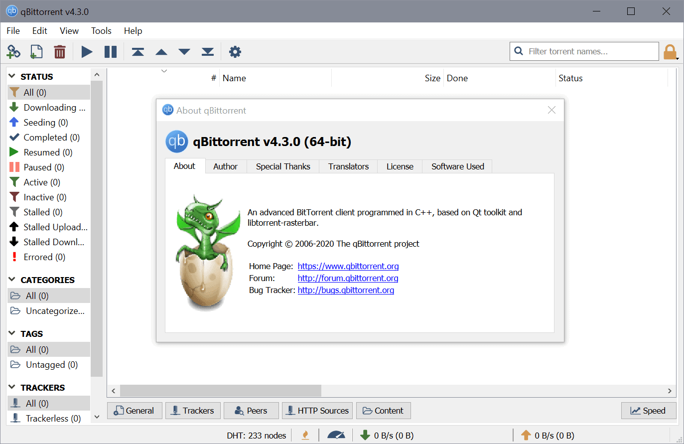 qBittorrent 4.3.0 is a major update with important changes