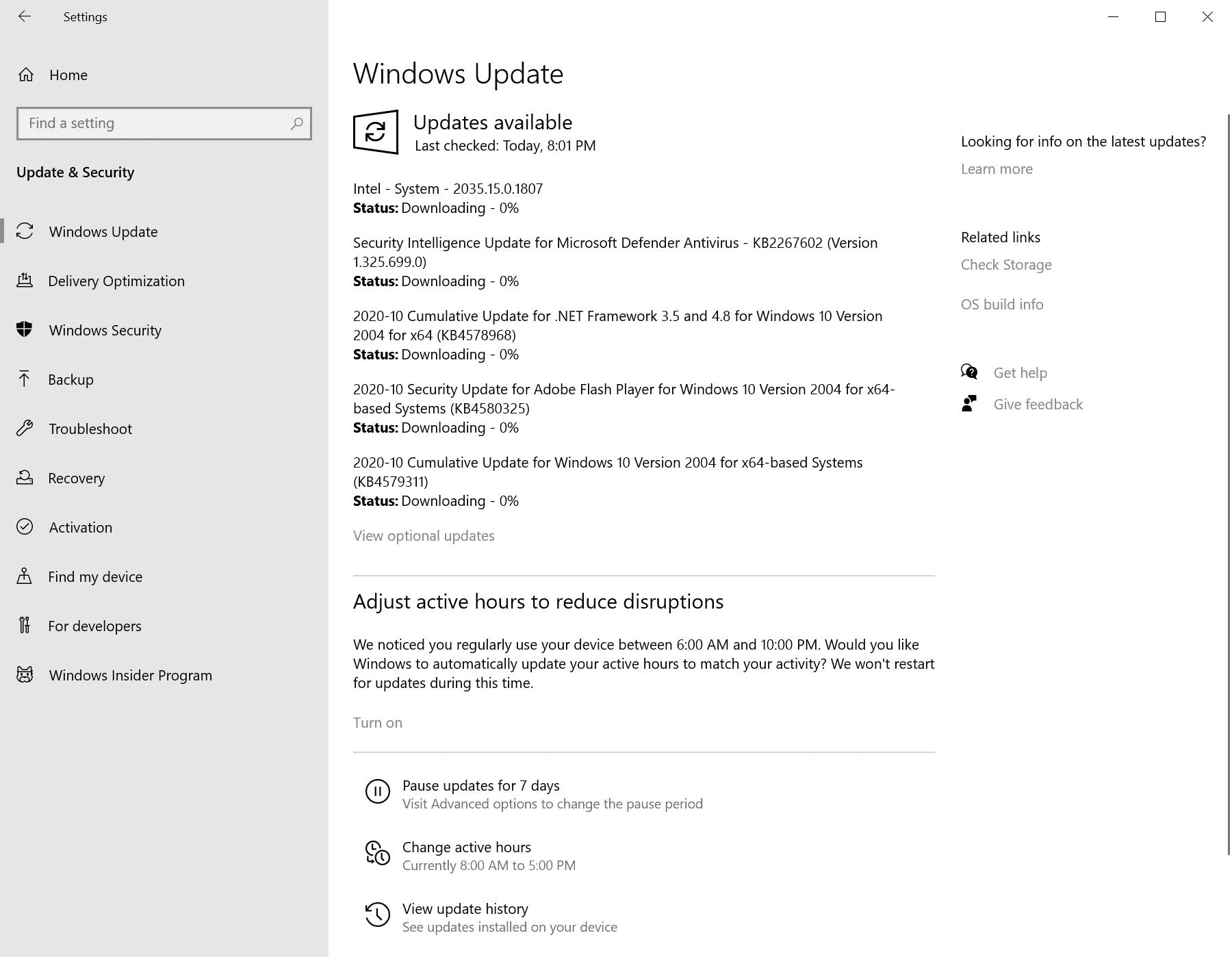 windows security updates october 2020