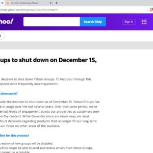 yahoo groups shutdown