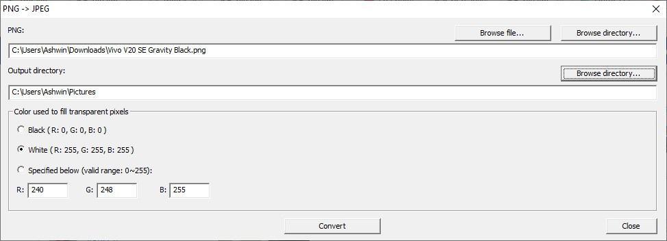 CPix convert to jpg