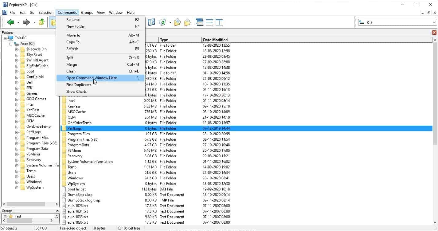 ExplorerXP open command window here