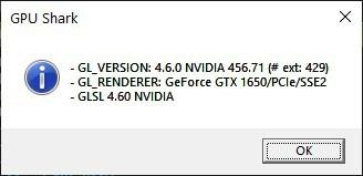 GPU Shark gl info