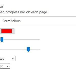Load progress bar firefox extension settings