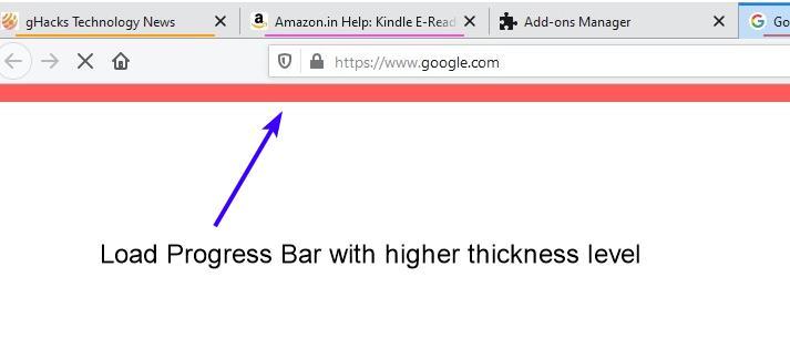 Load progress bar thickness