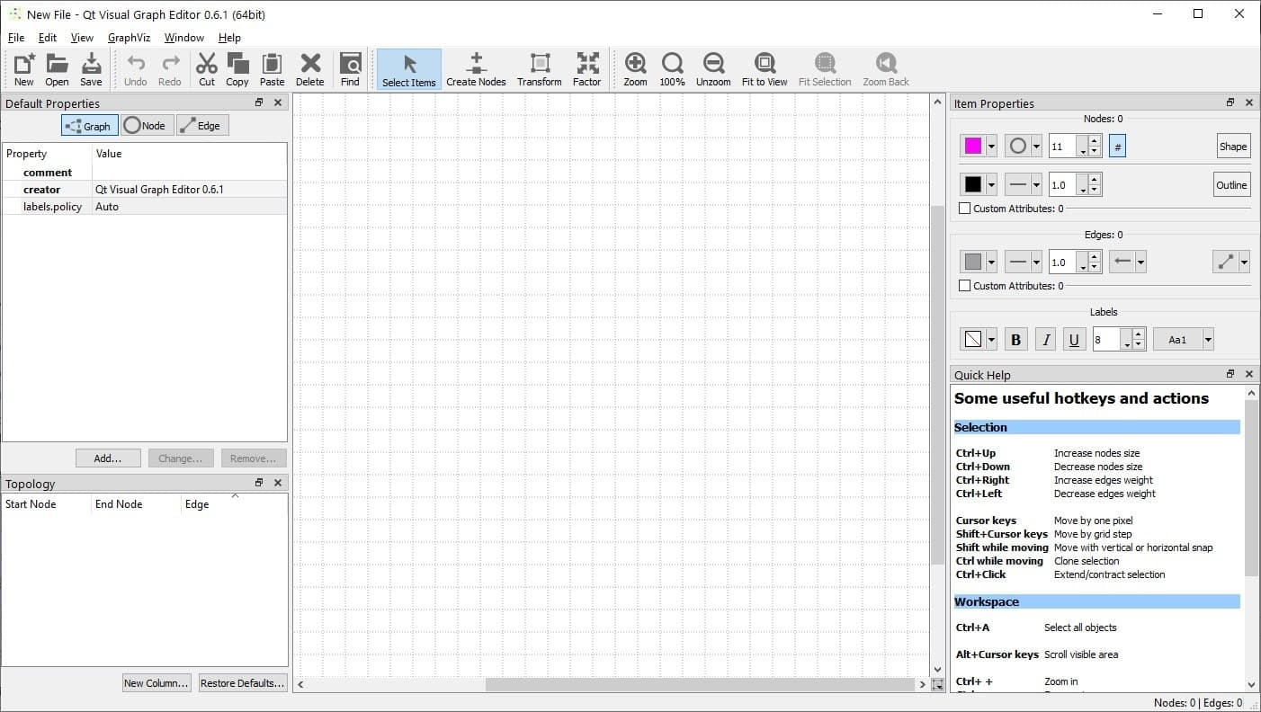 QVGE is an open source graph creation program for Windows and Linux