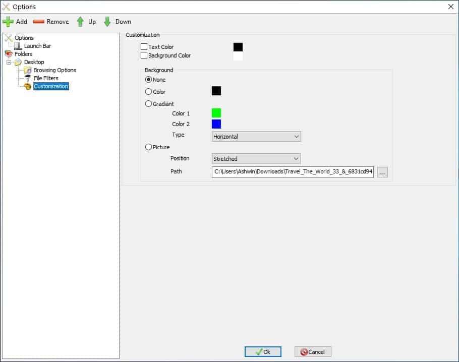 QuickWayToFolders customization
