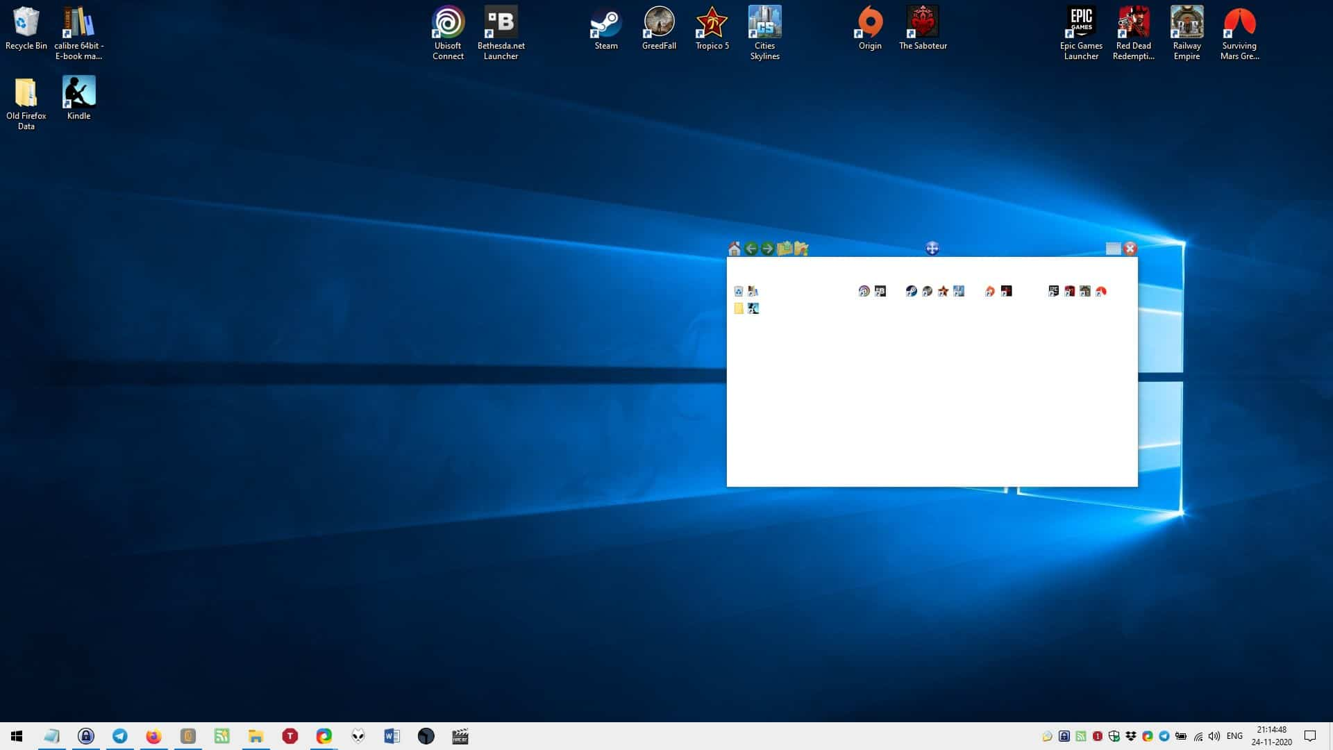 QuickWayToFolders provides a unique way to access your desktop shortcuts and folders