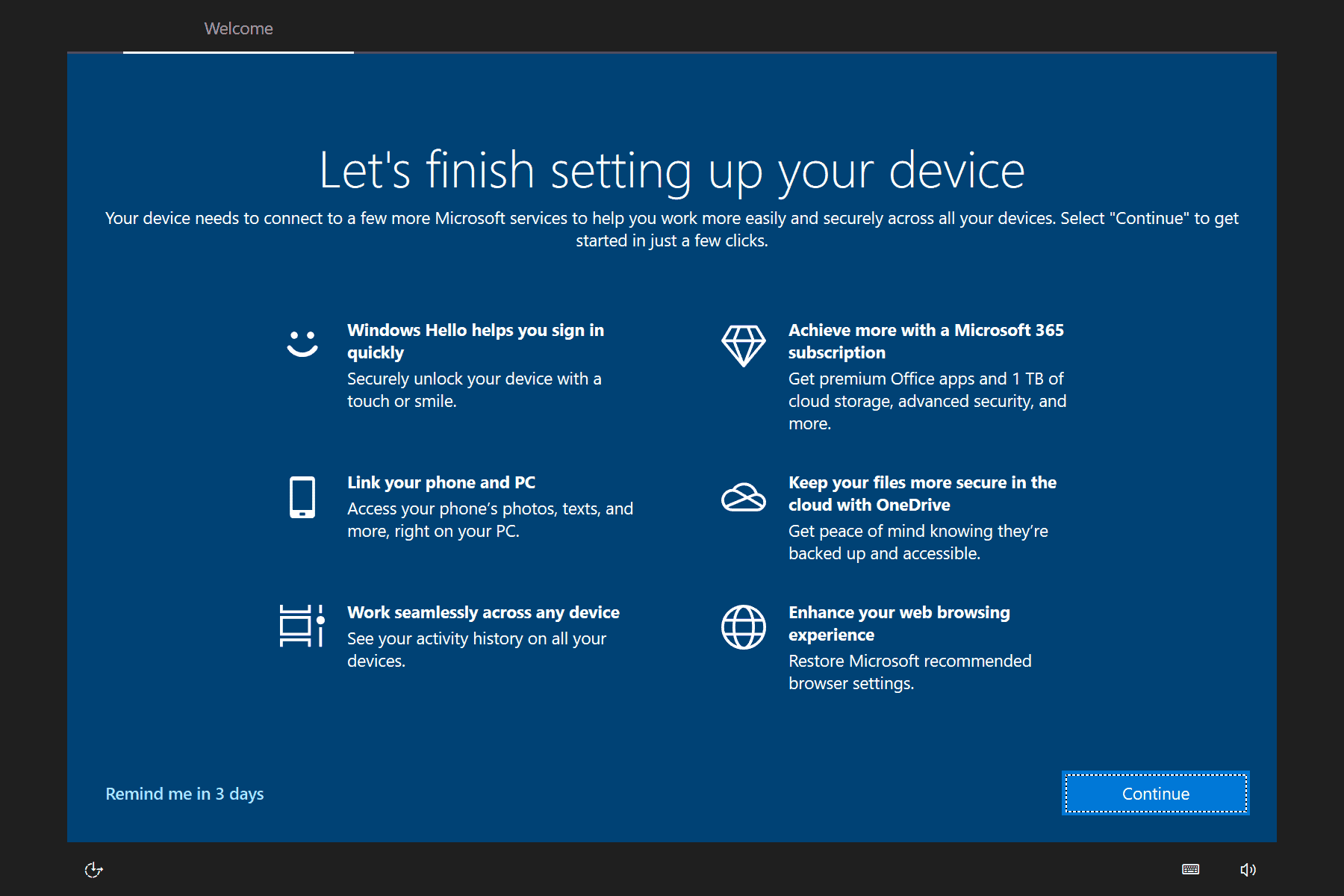 Windows 10 experience out of the box