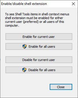 Shell Tools enable