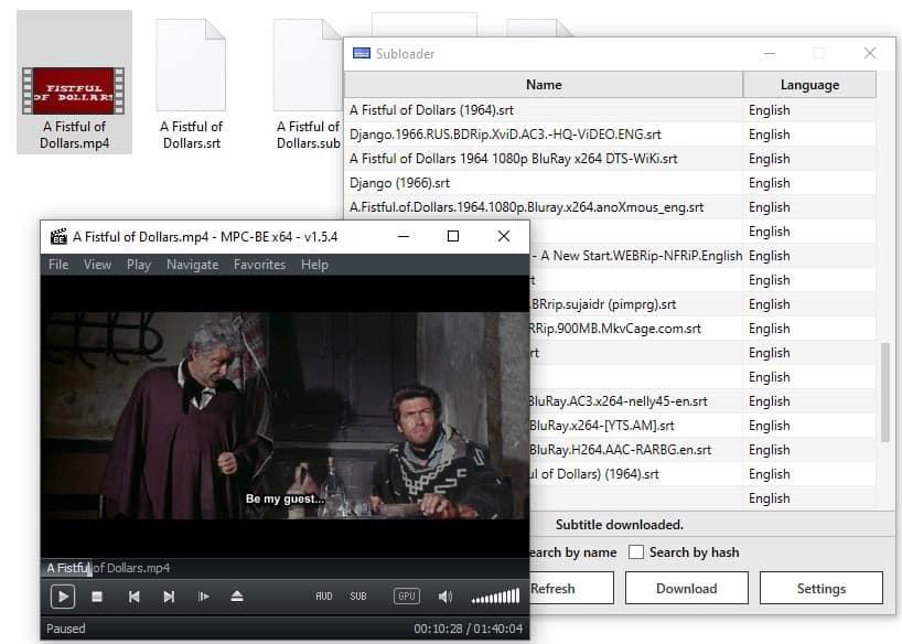 Subloader video subtitles