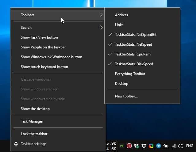 Taskbar Stats is an open source tool that displays your computer's resource usage on the Windows Taskbar