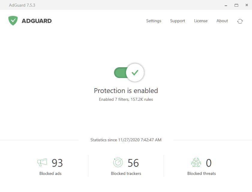 adguard interface