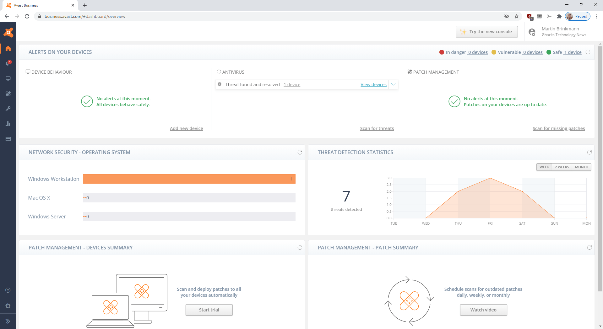 avast cloud dashboard
