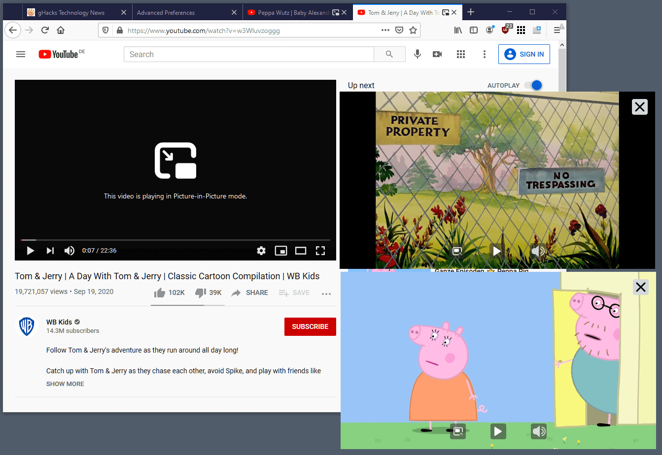firefox multiple videos picture-in-picture
