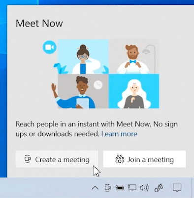 meet now windows 10