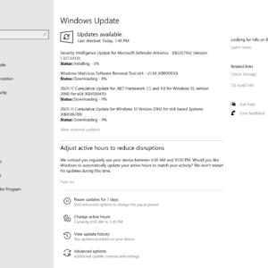 microsoft windows november 2020 security updates
