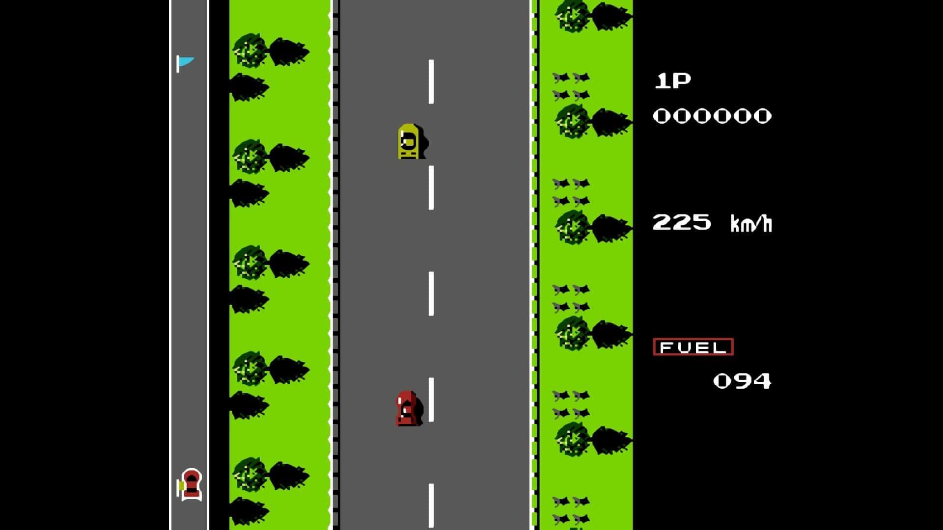 puNES fullscreen mode Road Fighter
