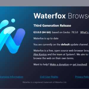 waterfox third generation browser