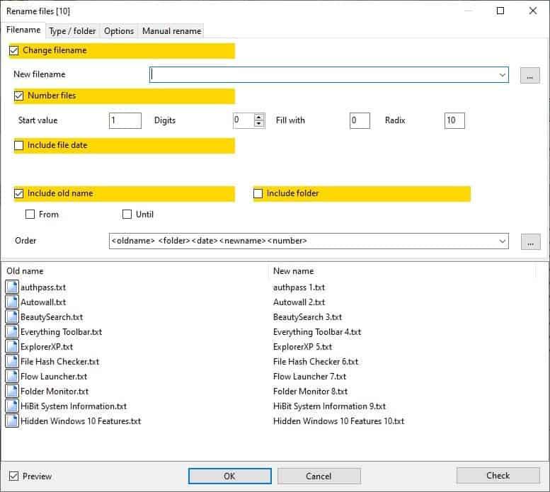 Alternate Archiver - batch rename files 2