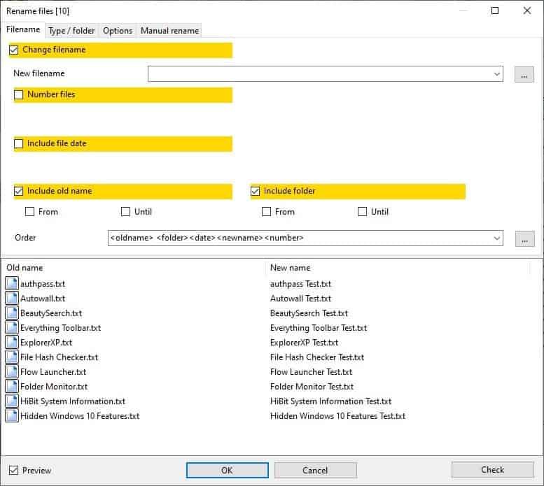 Alternate Archiver - batch rename files 4