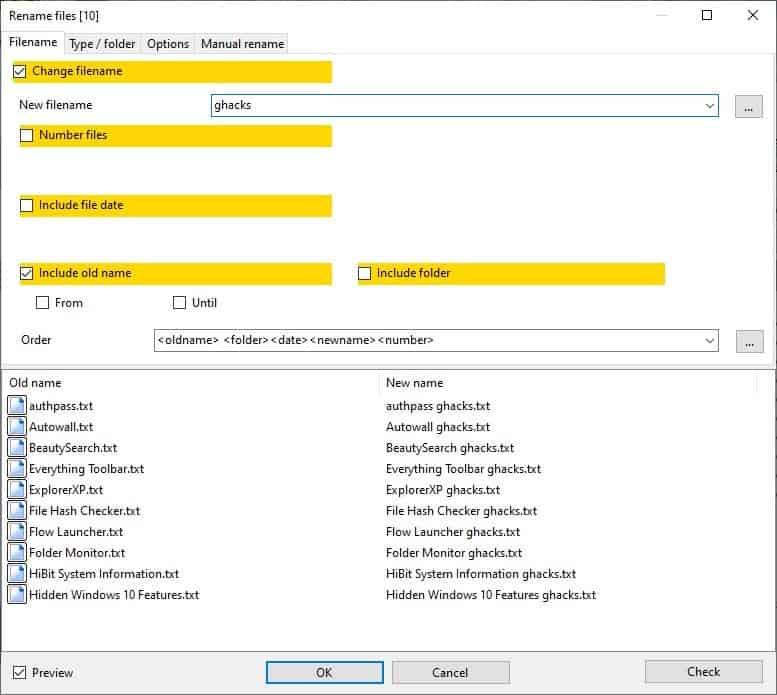 Alternate Archiver - batch rename files