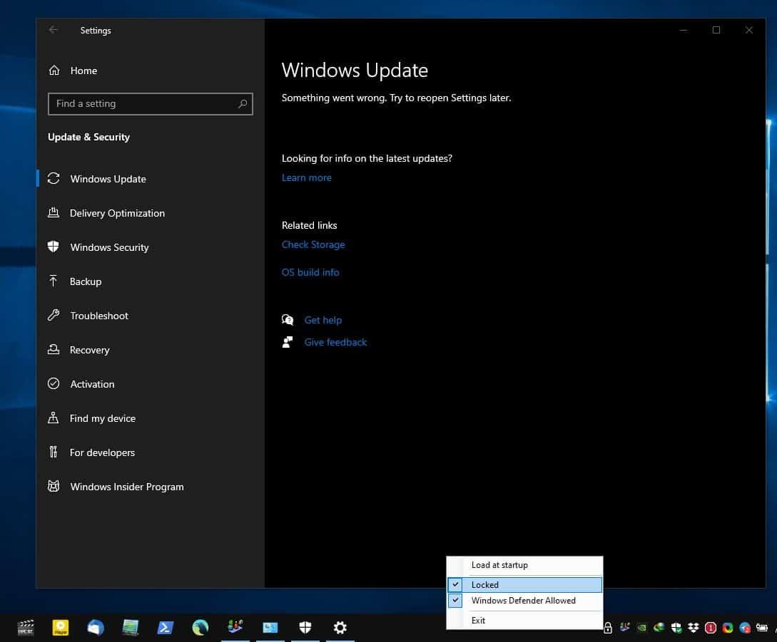 Kill-Update blocks windows updates