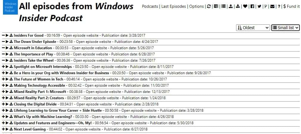 Podstation small list view