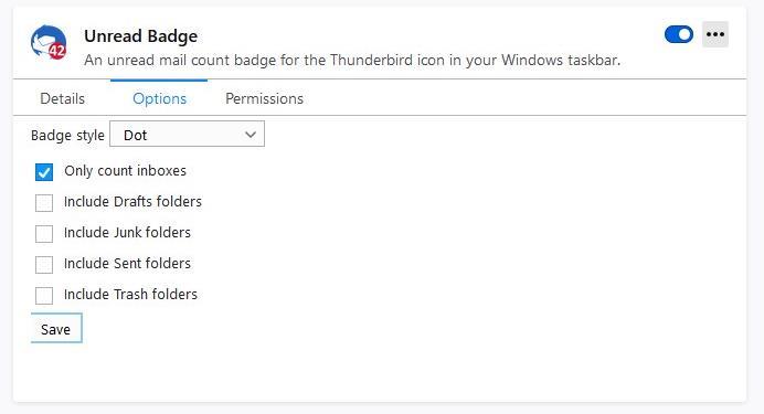 Windows Taskbar Unread Badge options