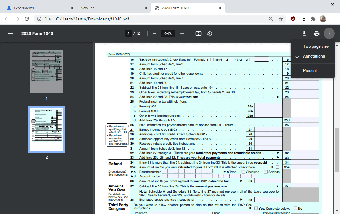 chrome new pdf viewer