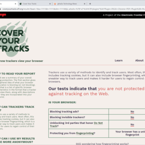 cover your tracks chrome