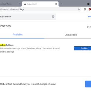 google-chrome privacy sandbox- flag