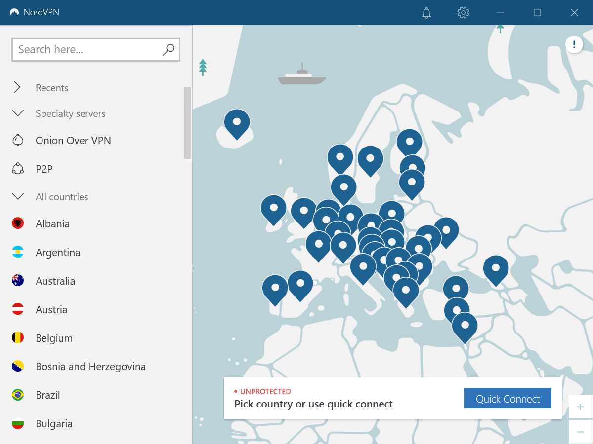 nordvpn missing specialty servers