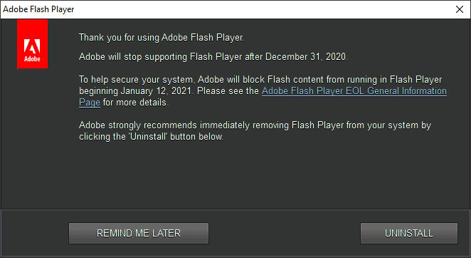 thank you for using adobe flash player
