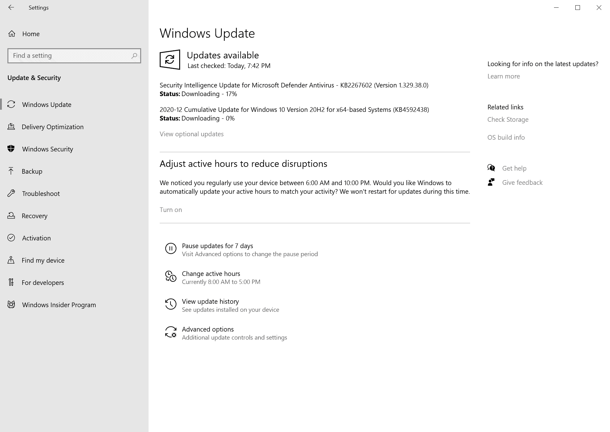 windows updates december 2020