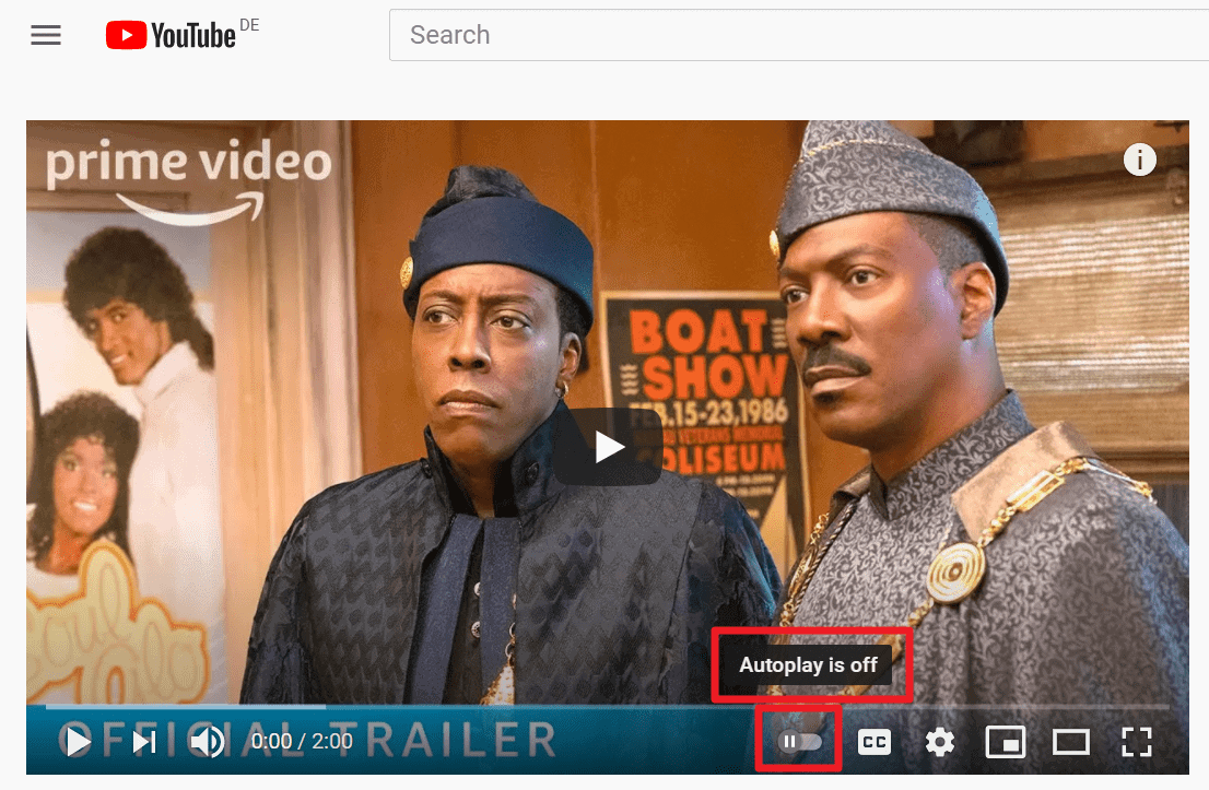 youtube autoplay off