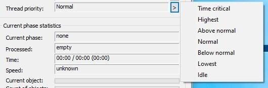 Copy Handler - thread priority settings