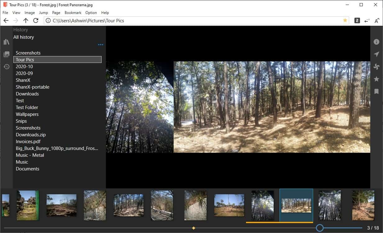 NeeView is an open source image viewer that displays two images simultaneously like pages from a book