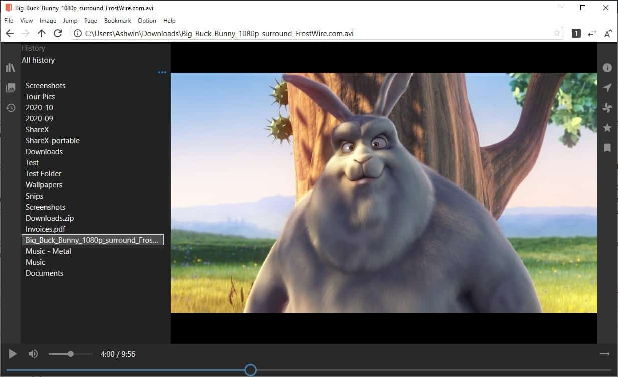 NeeView video player