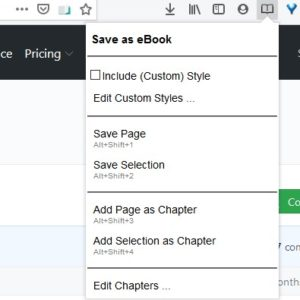 Save webpages as an EPUB file with the Save as eBook extension for Firefox and Chrome