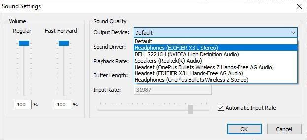 Snes9x sound settings