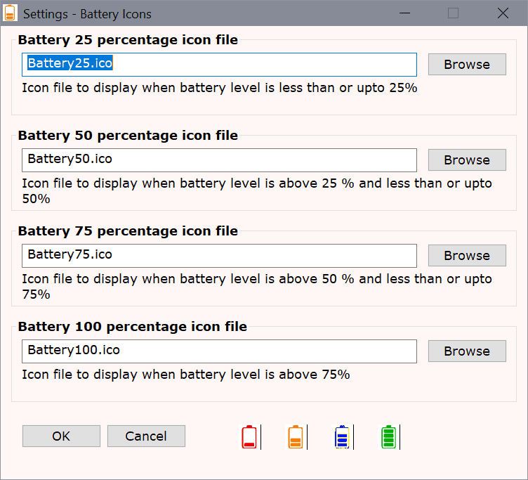 battery icons windows