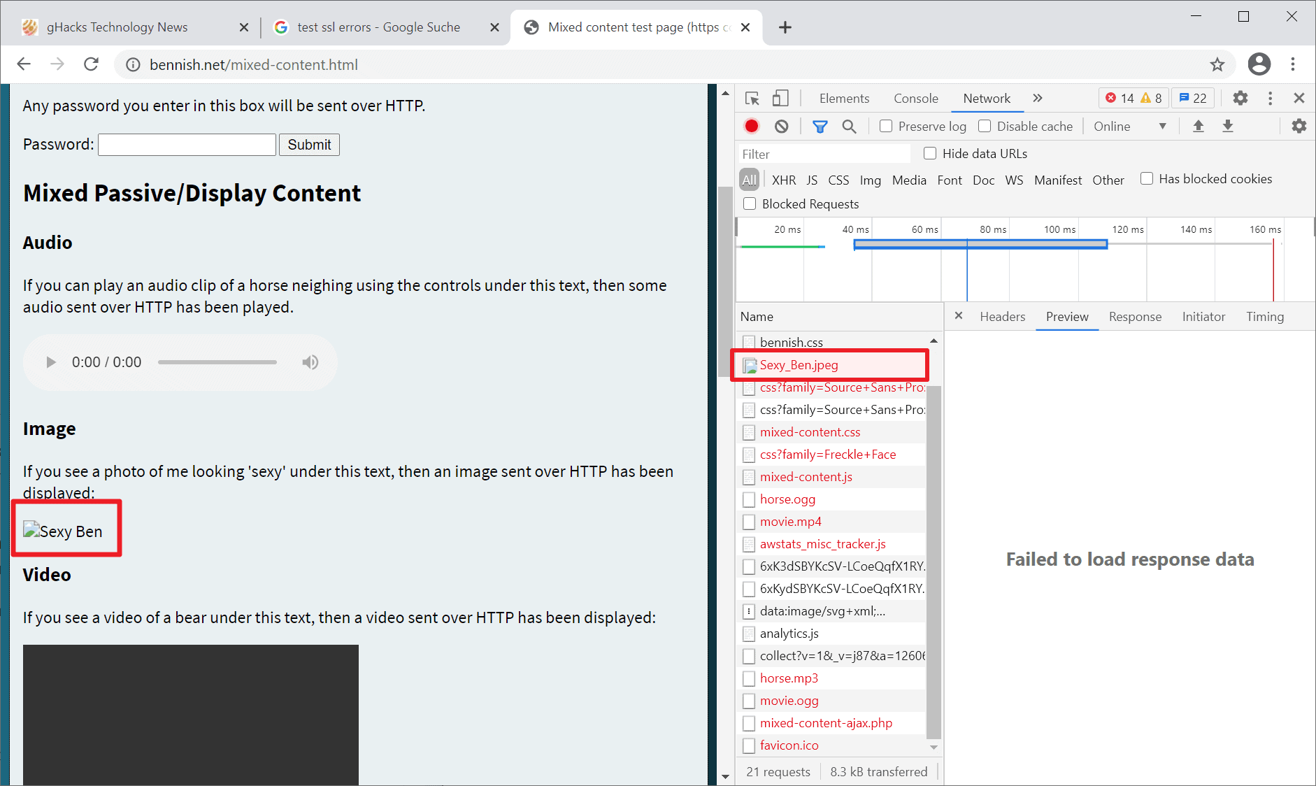 chrome insecure images