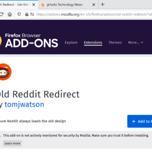 firefox addons scary message