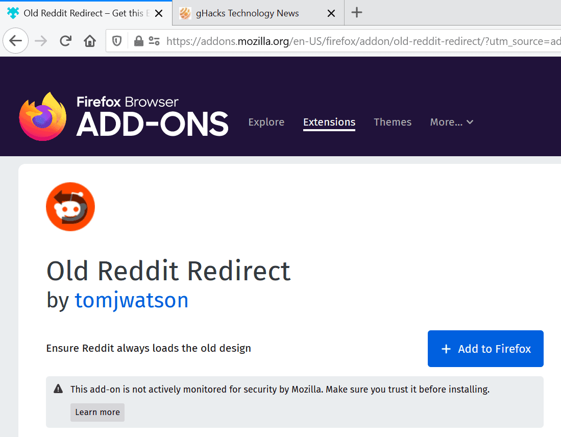 Mozilla ends Promoted Firefox Add-ons Program