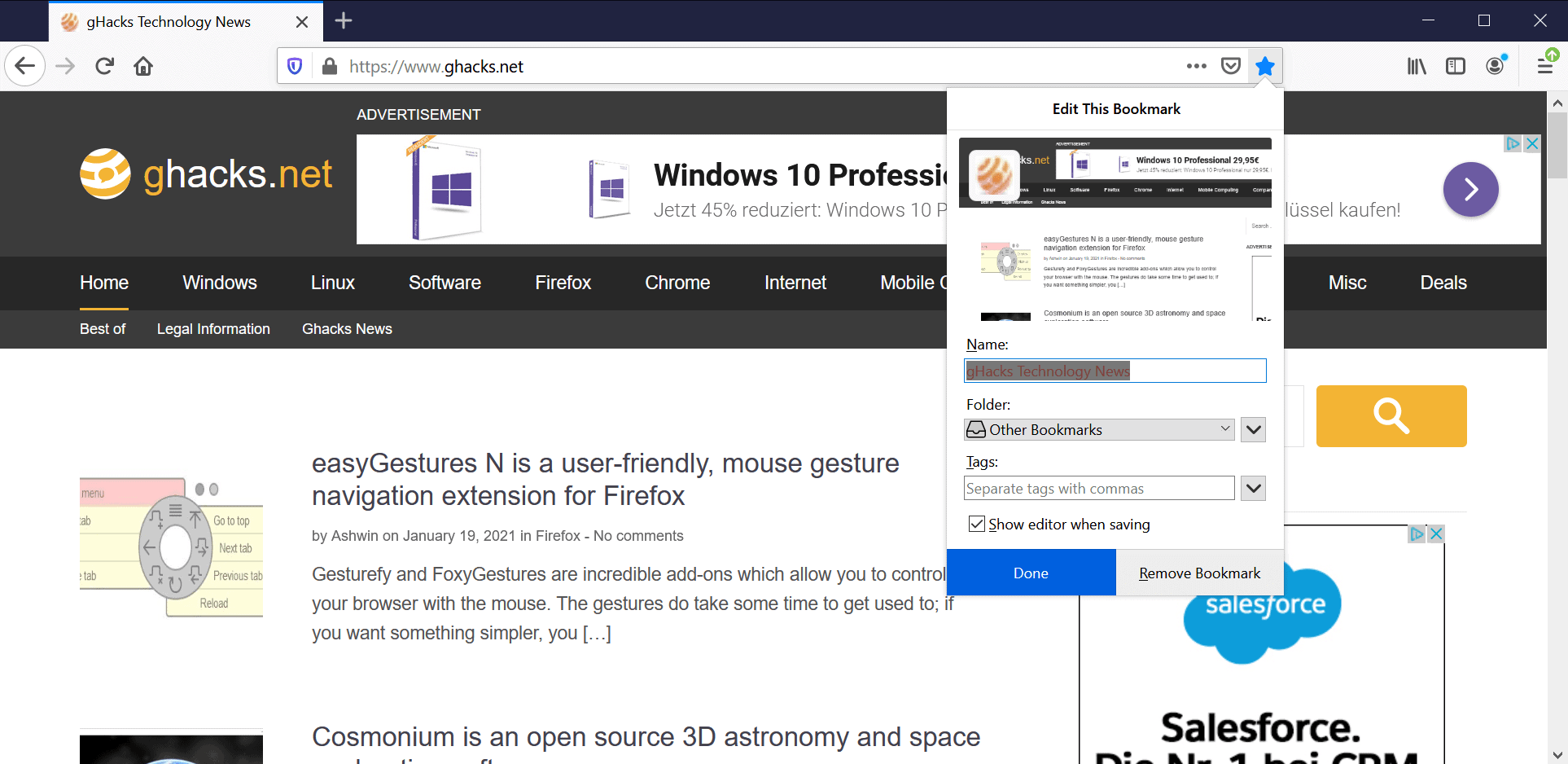 firefox save bookmarks 85