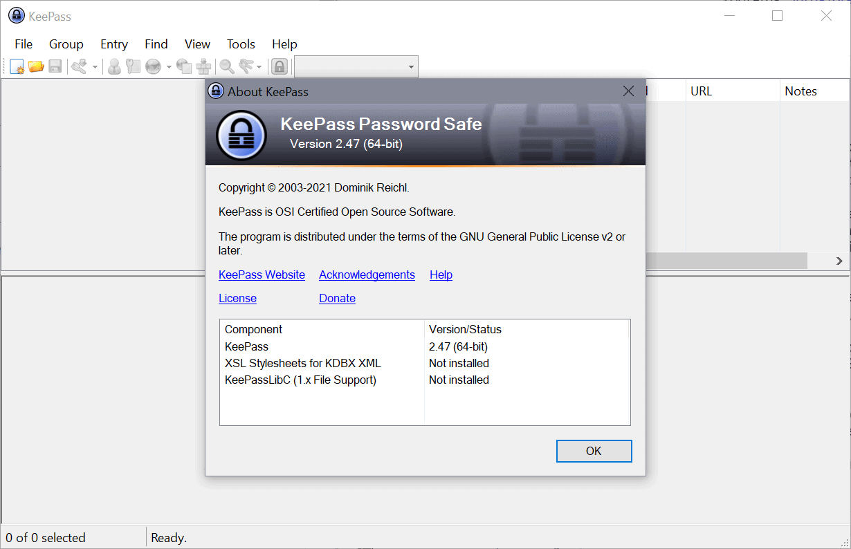 keepass 2.47 password manager