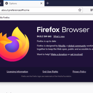 mozilla firefox 84.0.2