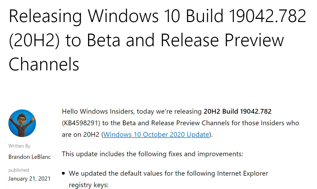 Microsoft set to reverse Feature Update releases in 2021