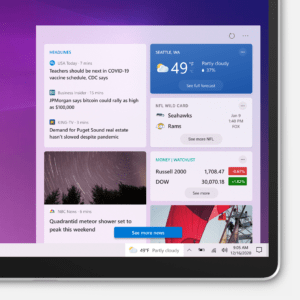 windows 10 news weather flyout